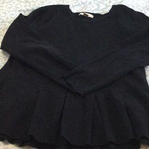 Black Banana Republic peplum sweater